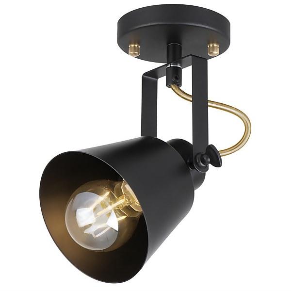 Abigail Single Lamp Spotlight - Black