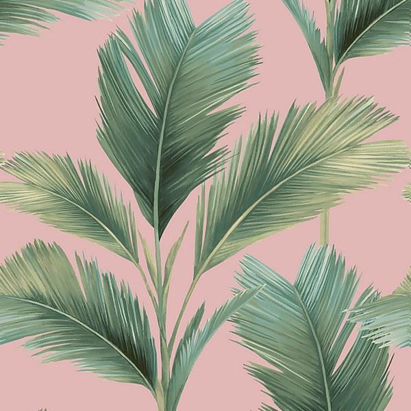 Belgravia Decor Kailani Green Blush Wallpaper