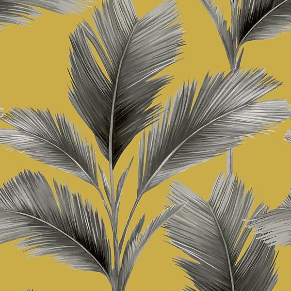 Belgravia Decor Kailani Yellow Wallpaper