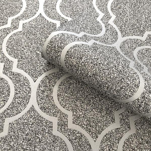 Belgravia Decor Massima Trellis Silver Wallpaper
