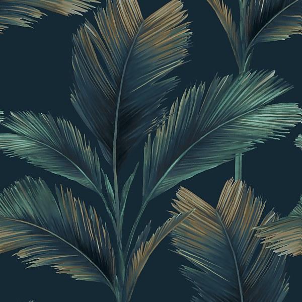 Belgravia Decor Kailani Dark Blue Wallpaper