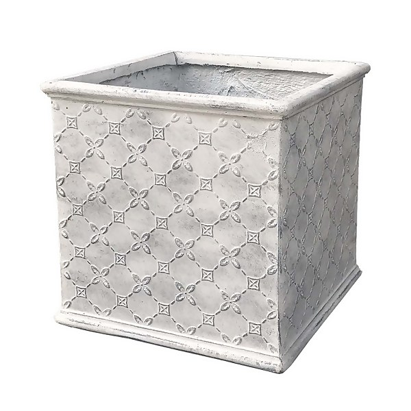 Mayfair Antique White Cube - 38cm