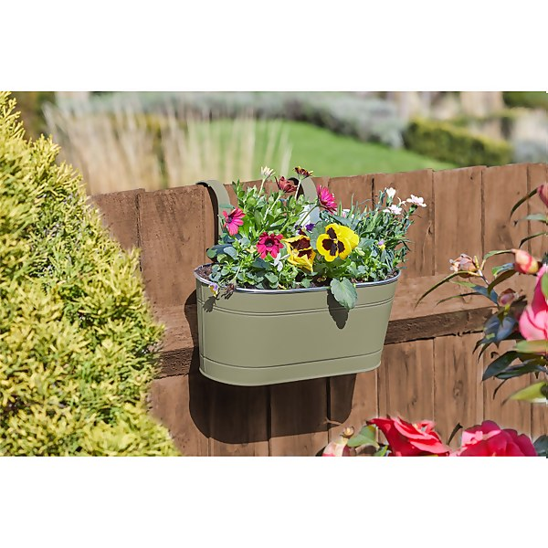 12 Fence and Balcony Hanging Planter - Putty