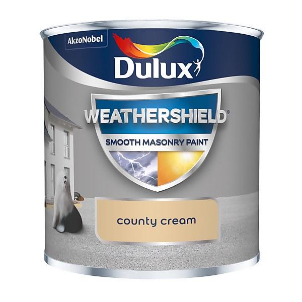 Dulux Weathershield Smooth Masonry Paint - County Cream - 250ml