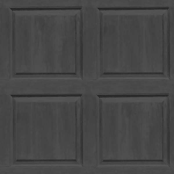 Arthouse Washed Panel Charcoal Wallpaper