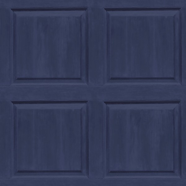 Arthouse Washed Panel Navy Wallpaper