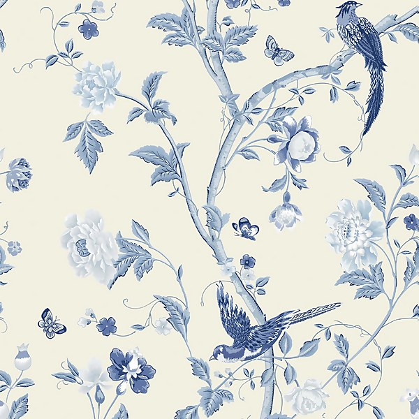 Laura Ashley Summer Palace Royal Blue, Laura Ashley Bluebirds Bedding