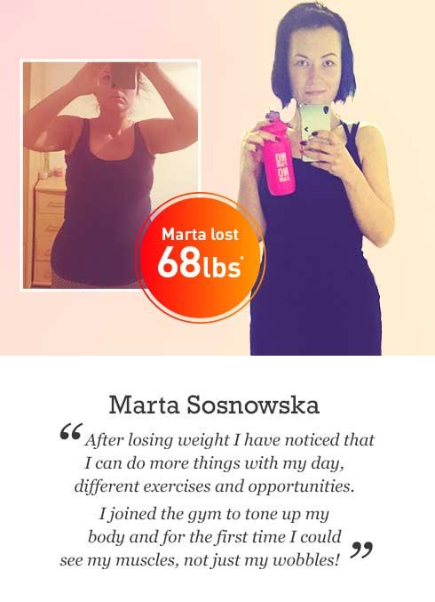 Marta Sosnowska's weight loss story | Exante Diet U.S.