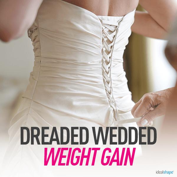 Bride in Dress-Dreaded Wedded Weight Gain