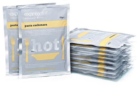 pasta carbonara meal replacement packs