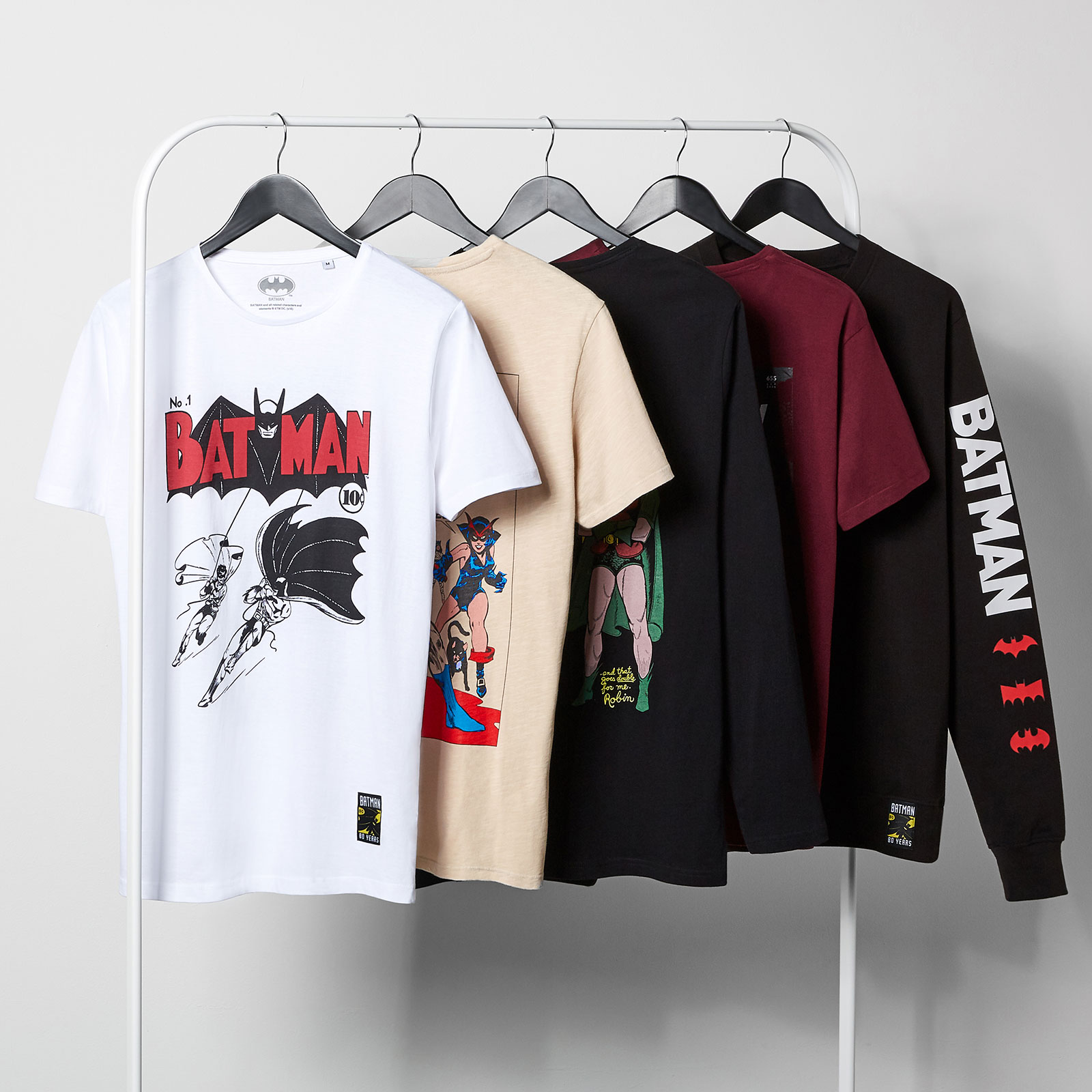 Batman 80th Clothing Rail