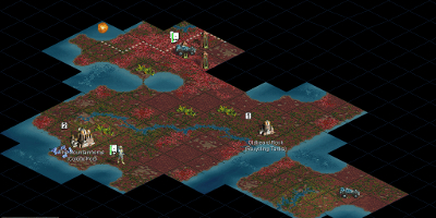 A small map, very early on in the game