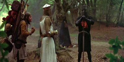 Black Knight Challenging King Arthur
