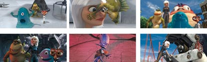 Montage Of Pictures From Monsters Vs Aliens