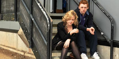 Malachy And Michelle Sat On Steps