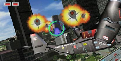 Missiles, flying towards the player, in control of an aircraft
