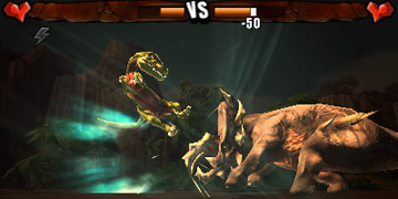 A screenshot showing a fight scenario