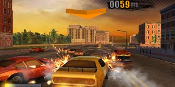 A screenshot of gameplay during a race