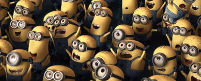 Group Shot Of Minions