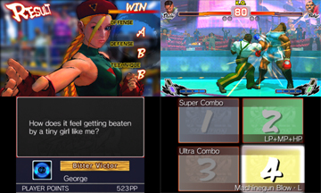 A duo of screenshots, showing different parts of the varying gameplay