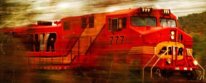 A Red Speeding Train