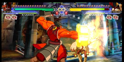 A fight between two players in full swing