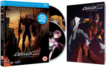 Evangelion: 2.22 Front Cover, Two Discs And Booklet