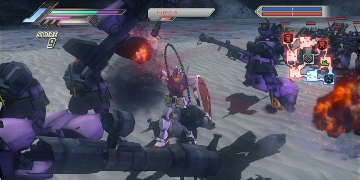 A robot in the centre of a large battle