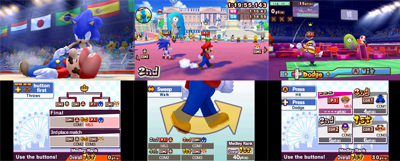 3 Screenshots showing different examples of game-play