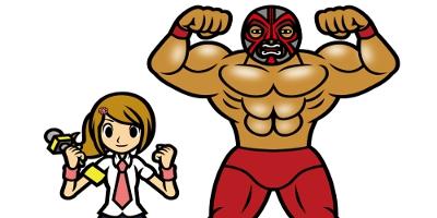 Girl and Wrestler