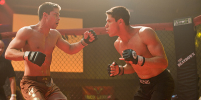 Mike Stokes And Zack Gomes Cage Fighting