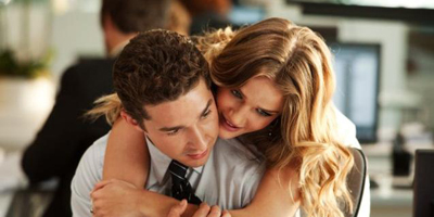 Carly Spencer Hugging Sam Witwicky