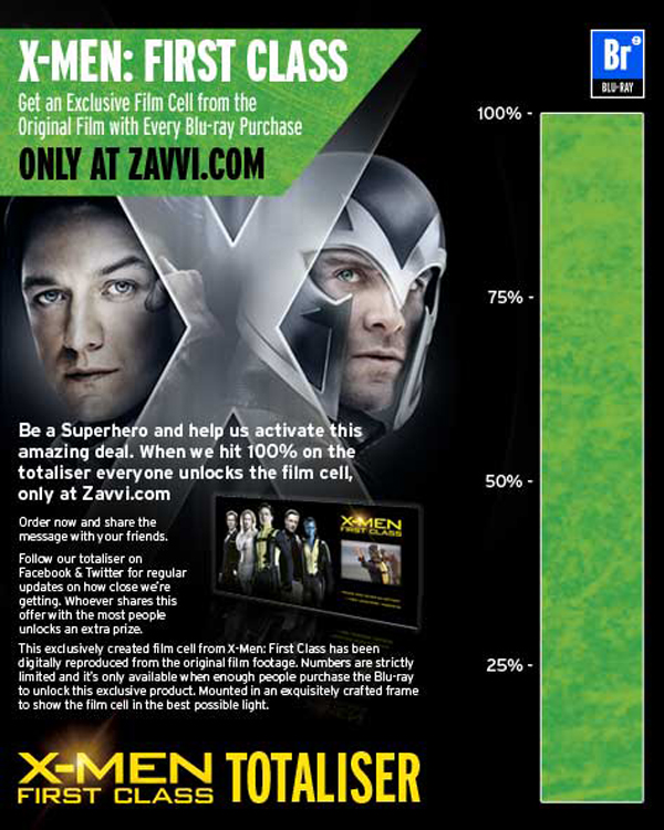 Advertisement From Zavvi.com For Recieving A Exclusive Film Cell With Every Blku-ray Purchase