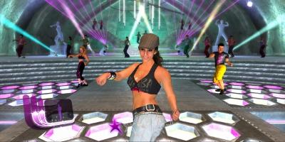 Woman dancing in a zumba style