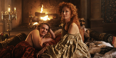 A Young Earl Of Oxford Lying In Bed With A Young Queen Elizabeth I