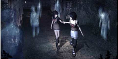 The twins turning to run from some ghosts