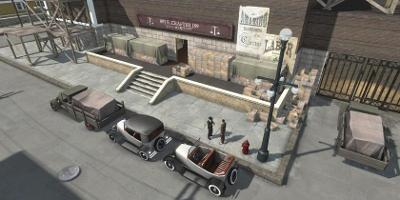 gangsters dans un parking