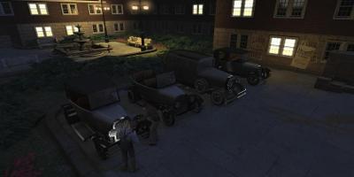 des gangsters s'introduisant dans une voiture