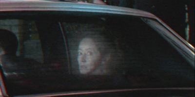 Fantôme à l'arrière de la voiture