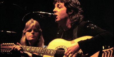 Paul and Linda performing