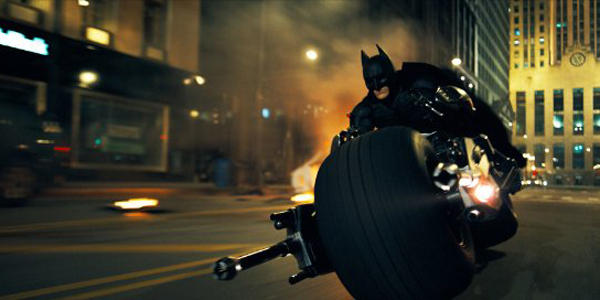 Christian Bale Riding the Batpod