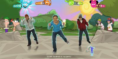 3 kids dancing