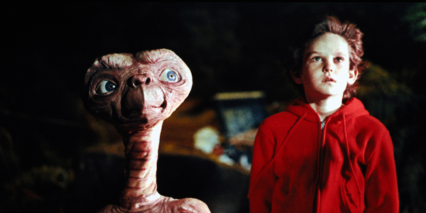 E.T. and Henry Thomas Staring into Space