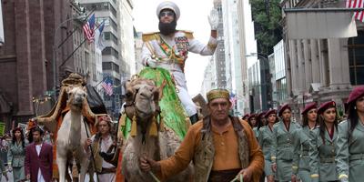 Sacha Baron Cohen Riding a Camel