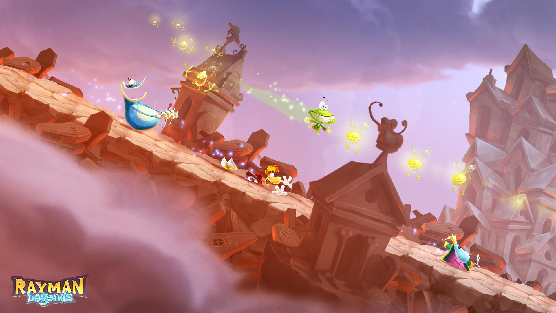 Rayman Legends Ps4 Zavvi Switch English Pal Games Sliding Down A Hill