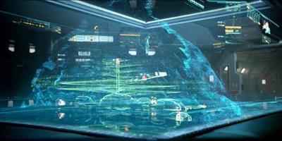 Arrêt sur image de la carte virtuelle 3D