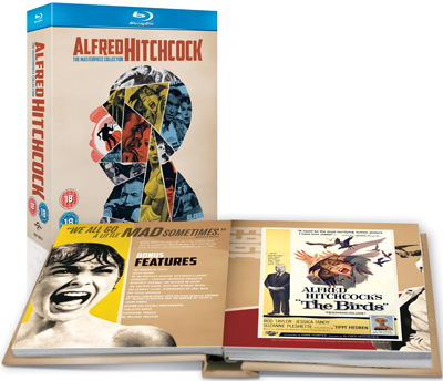 Alfred Hitchcock: The Masterpiece Collection - Exploded Packshot