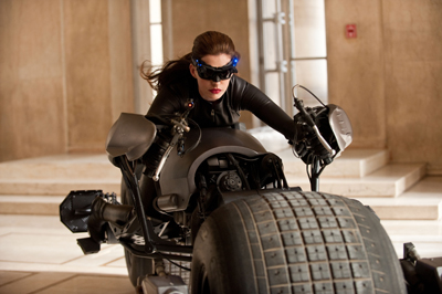 Catwoman on a Bike