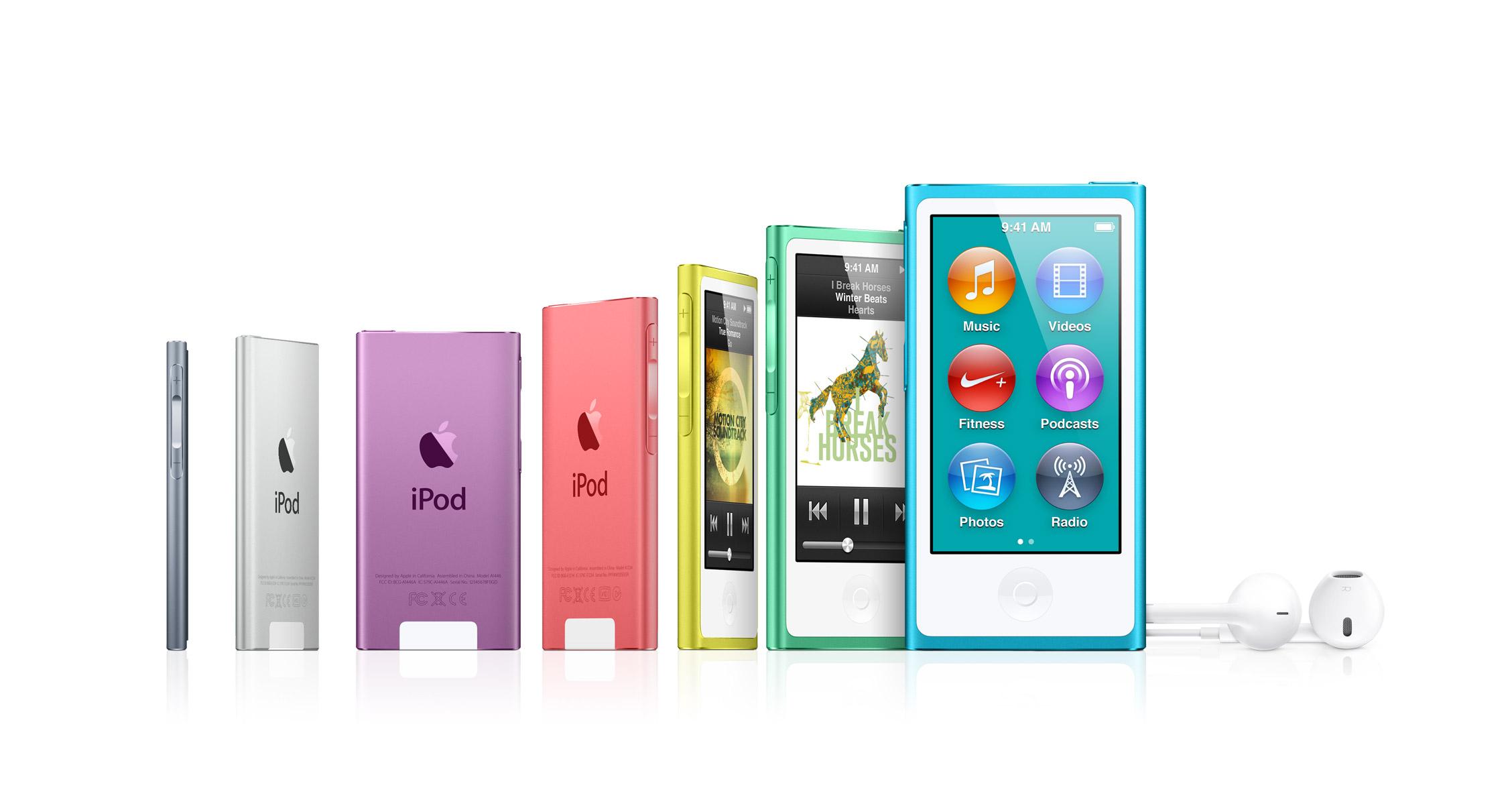 iPod Nano 7th Generation Range