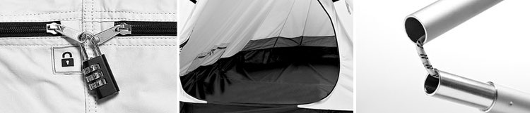 FieldCandy Get a Room Tent Limited Edition Lock, Interior and Poles